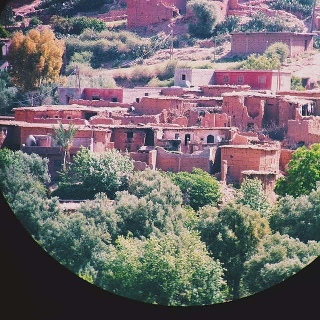 Asni through binoculars #vscocam