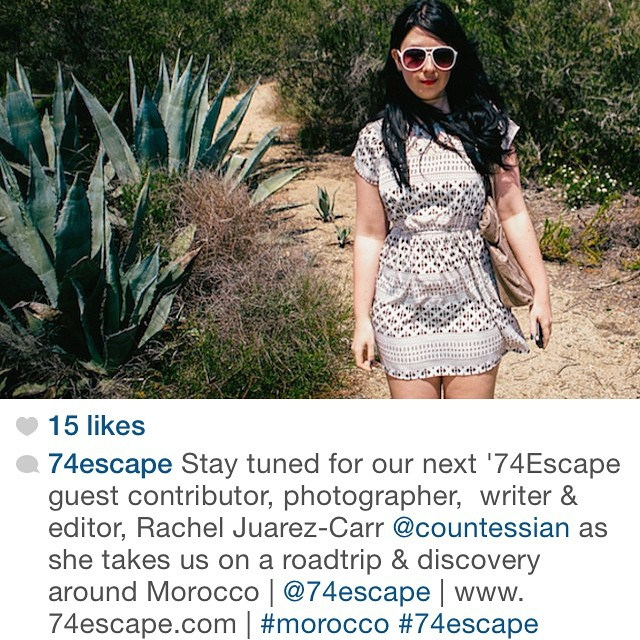 @74escape asked me to write about Morocco for them.