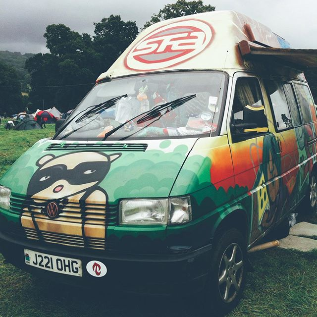 The van that wins @greenmanfest.#sfaok #wales #vscocam